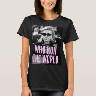 Camiseta Quem funcionam o T básico das mulheres do mundo