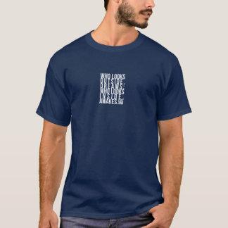 Camiseta Quem olha sonhos exteriores - Carl Jung