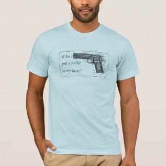 Camiseta Quem pôr uma bala em meu tazer?