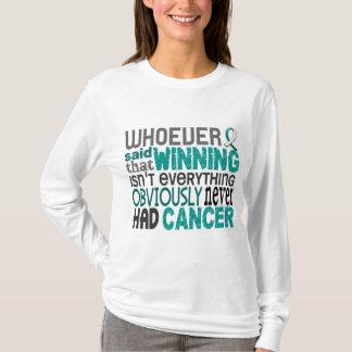 Camiseta Quem quer que disse o cancro do colo do útero