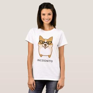 Camiseta Quem são mim?!! EM INCÓGNITO Corgi e seu BUMBUM