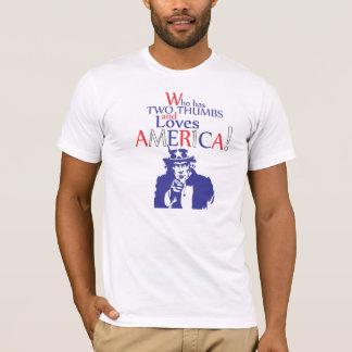 Camiseta Quem tem dois polegares e ama América