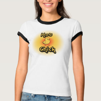 Camiseta quente do pintinho