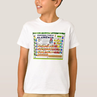 Camiseta Química, ciência, mesa de elementos periódica