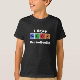 Camiseta Química da ciência do bacon da mesa periódica