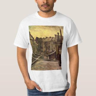 Camiseta Quintais de casas velhas por Vincent van Gogh