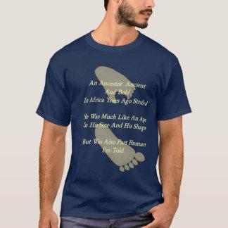 Camiseta Quintilha jocosa da evolução