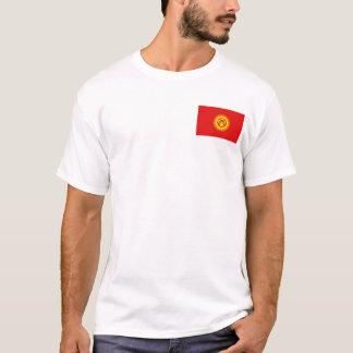 Camiseta Quirguistão embandeira e traça o t-shirt