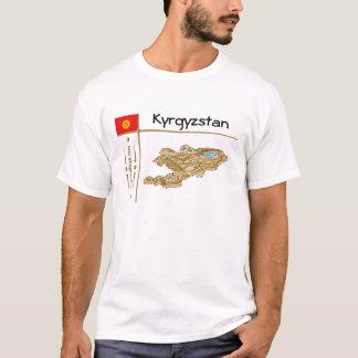 Camiseta Quirguistão traça + Bandeira + T-shirt do título