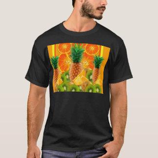 Camiseta QUIVI HAVAIANO tropical das FATIAS do ABACAXI & da