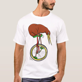 Camiseta Quivi que monta uma venda ambulante do Unicycle