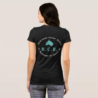 Camiseta R.C.B. porco do vôo da camiseta: Cerceta e branco