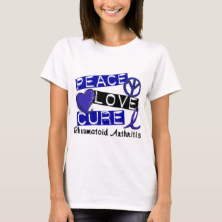 Camiseta RA da artrite reumatóide da cura do amor da paz