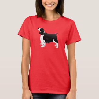 Camiseta Raça básica do Spaniel de Springer do inglês preto
