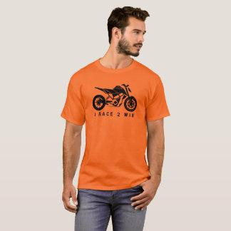 Camiseta Raça para ganhar - a bicicleta dos esportes