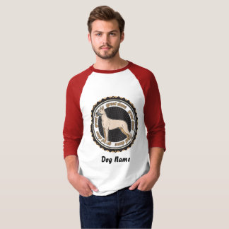 Camiseta Raça personalizada do amante do cão de great dane
