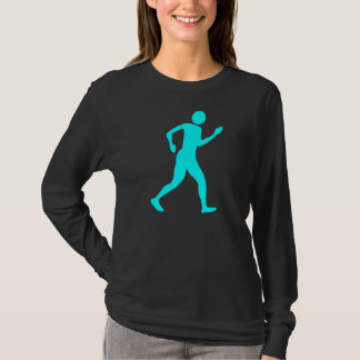 Camiseta Racewalking - ciano