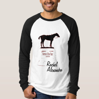 Camiseta Rachel Alexandra ganha o cavalo do t-shirt do ano