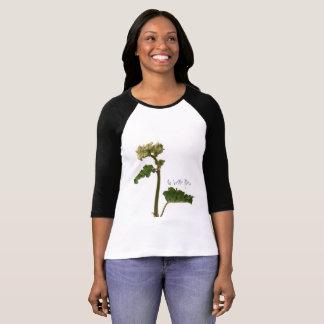 Camiseta Raglan à mangas a bonita flor