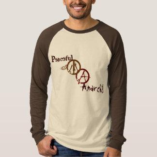 Camiseta Raglan calmo da banda da anarquia