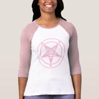 Camiseta Raglan cor-de-rosa de Baphomet