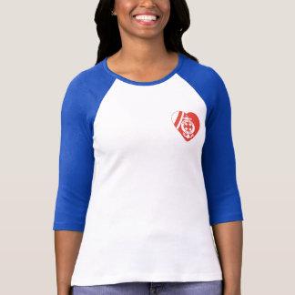 Camiseta Raglan da luva da divisão 3/4 das mães de USCG
