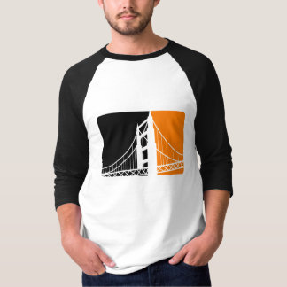 Camiseta Raglan da luva do San Francisco Bay 3/4