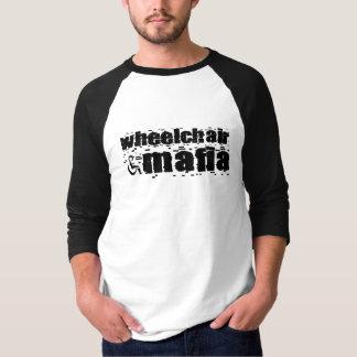 Camiseta Raglan da máfia da cadeira de rodas