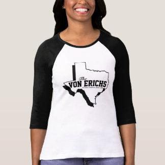 Camiseta Raglan da tradição do Texas das mulheres
