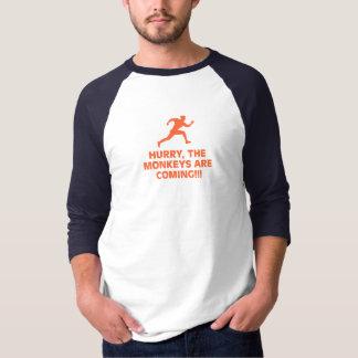 Camiseta RAGLAN de S dos HOMENS dos corredores do templo '