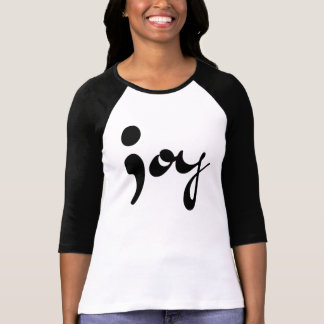Camiseta Raglan do Semicolon da alegria