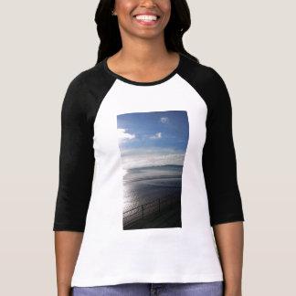 Camiseta Raglan do t-shirt das mulheres do verão de YinYang