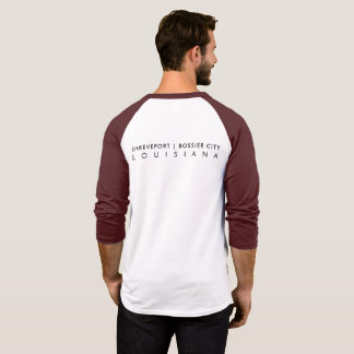 Camiseta Raglan dos homens L/S