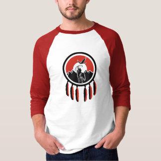 Camiseta Raglan indiano T da luva do protetor 3/4 do nativo