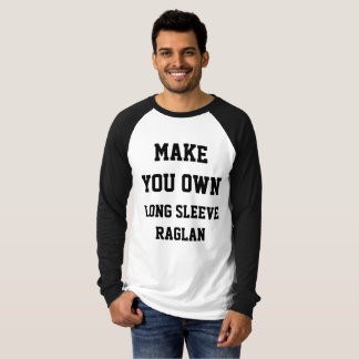 Camiseta RAGLAN LONGO da LUVA dos homens personalizados