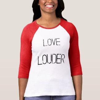 Camiseta Raglan mais alto do grunge do amor