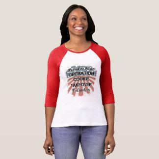 Camiseta Raglan orgulhoso ser um T voluntário