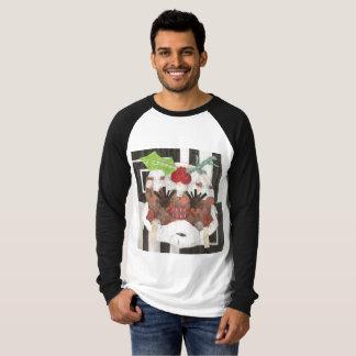 Camiseta Raglan Parte superior da Senhora Pudim Homem