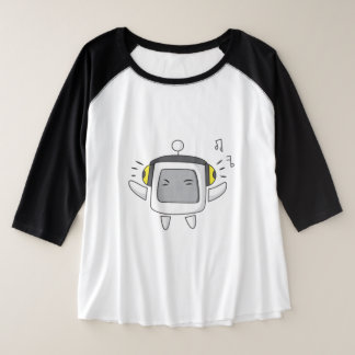 Camiseta Raglan Plus Size Computador musical!