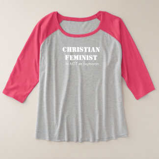Camiseta Raglan Plus Size Feminista cristã