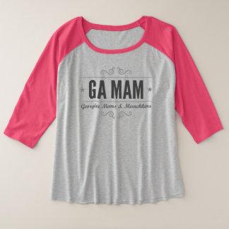 Camiseta Raglan Plus Size GA MAM mais o t-shirt do Raglan do tamanho