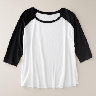 Camiseta Raglan Plus Size O Mais-Size das mulheres 3/4 de escolha da cor do