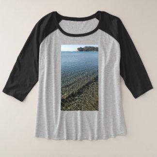 Camiseta Raglan Plus Size Praia sardinia de Poetto