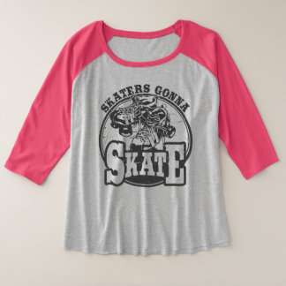 Camiseta Raglan Plus Size Rolo Derby - patinadores que vão patinar mais a