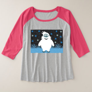 Camiseta Raglan Plus Size Snowie o boneco de neve abominável