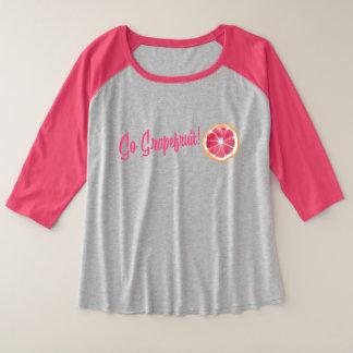 Camiseta Raglan Plus Size Vai a toranja! T-shirt do Raglan