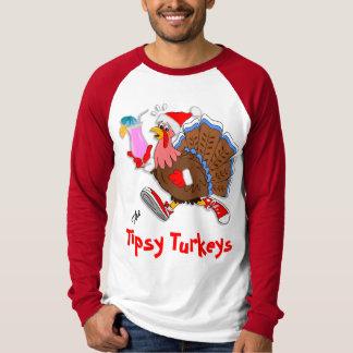 Camiseta Raglan Tipsy de Turquia LS do Natal
