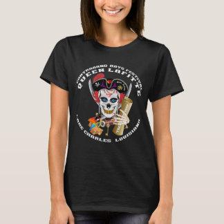 Camiseta Rainha 1 do pirata 1 e 2 parte dianteira e parte