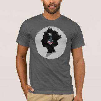 Camiseta RAINHA COM o t-shirt americano do roupa dos FONES