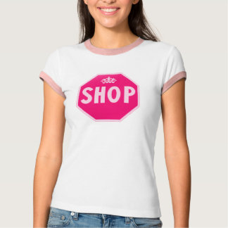 Camiseta Rainha cor-de-rosa da loja